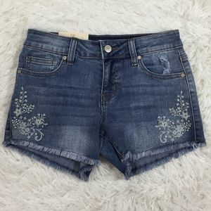 Altar'd State embroidered cutoff jean shorts sz 25
